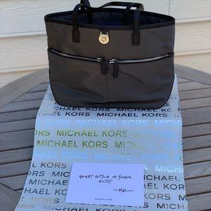 Michael Kors Small Grey w/Black Tote